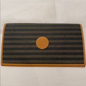 Fendi checkbook cover/wallet